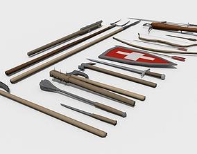 Medieval weapon pack 3D asset