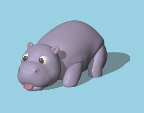 Hippopotamus animals 3D printable model