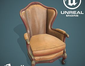 Stylized chair 3D asset realtime