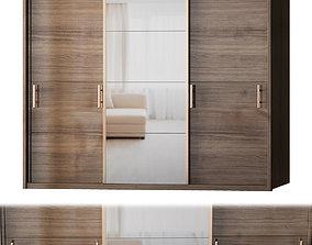 Manhattan Comfort Bellevue Wardrobe - 3 Doors low-poly 3