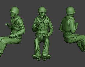 US Navy Sailor ww2 Sit USN1 3D printable model