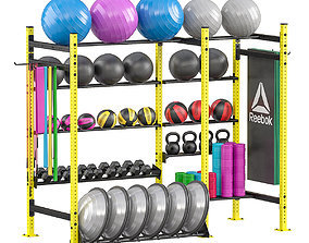 Sport rack equipment 3D model
