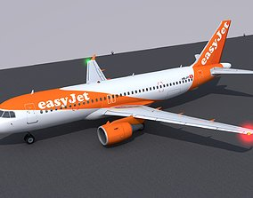 3D Airbus A320 livery Easy Jet