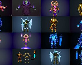 3D model handpainted stylized characters