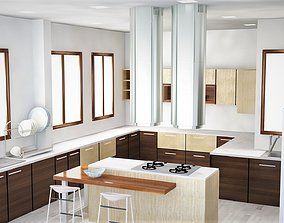 Kitchen interior 3d modal