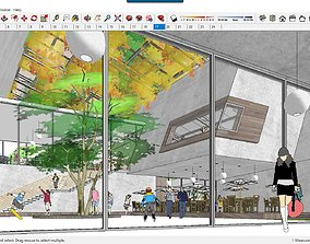 Sketchup Cultural center F5 3D model