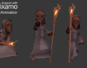 Priest Character 3D asset animated
