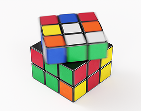 3D model animated Rubik Cube Speed Solve Animation