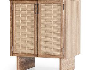 Wooden cabinet furniture 3D