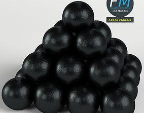 Cannonballs stack 1 3D