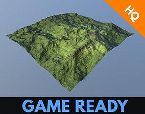 3D model Terrain Hills Landscape Mountain Environment 2