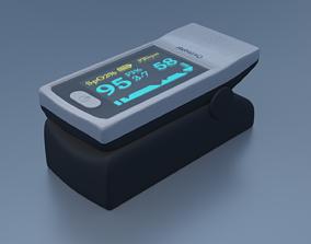 3D model Portable Finger Oximeter Fingertip Pulse Oximeter