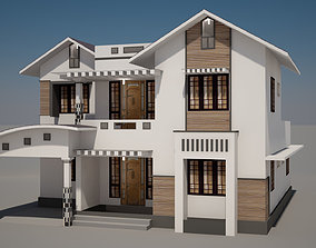 3D free house home architexure exterior