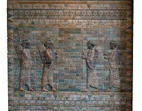 3D ASSYRIAN FRIEZE OF ARCHERS STONEWALL 4 ARCHERS