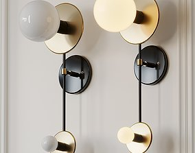 3D model Double Wall Brass Sconce by ETSY