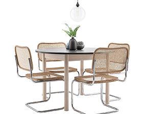 seating 3D model Dining Furnitures Set 17