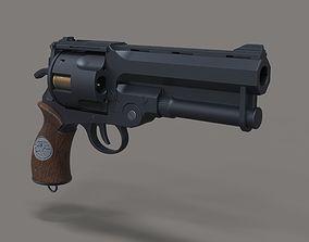 Samaritan revolver from movie Hellboy 3D print model