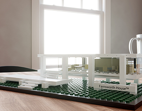LEGO Farnsworth House by Mies van der Rohe 3D model