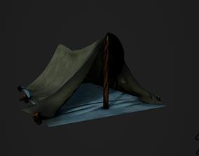 Basic Camping tente 3D asset