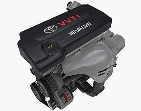 3D asset Toyota 2AZ-FE engine