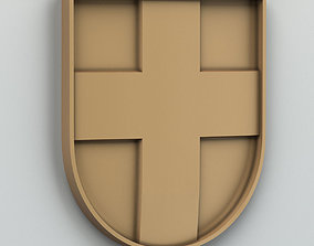 wood 3D Coat of arms of Volyn region Ukraine