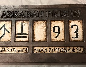 3D printable model Azkaban Prison Sign