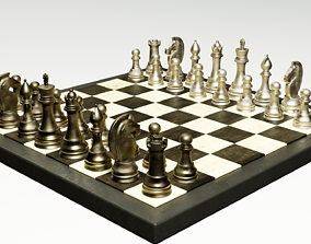 Chess Board 3D model PBR