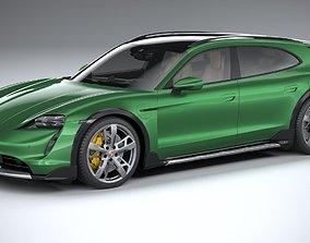 3D Porsche Taycan Turbo S Cross Turismo 2021