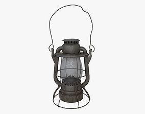 3D asset Old Kerosene Lantern