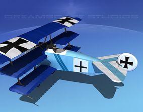 Fokker DR-1 Triplane V08 3D