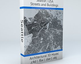 Seattle Streets and Buildings 3D model seattle