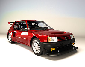 3D asset Peugeot 205 GTI rallye - 1984