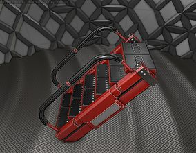 3D asset Sci-Fi Stairs - 6 - Red Version
