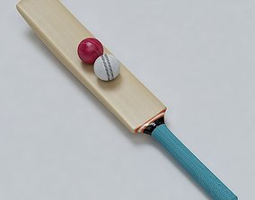 3D Cricket Bat and Ball