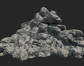 3D asset VR / AR ready Mountain Rocks Collection PBR