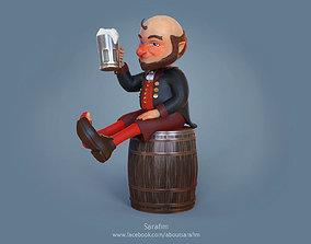 3D Model Character Leprechaun Drunk Cartoon