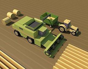 3D asset Farm Low Poly