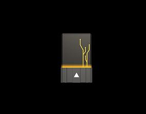 Card Yellow 3D asset