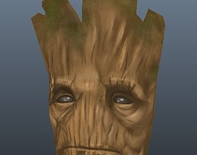 3D asset Groot Mask Game Ready Low Poly Model