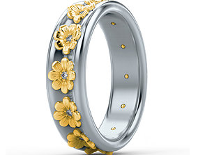 fashion-and-beauty 3D print model Flower ring