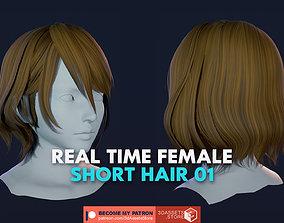 3D model Character - Real Time Female Short Hair 01