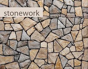 flooring Stone Wall 3D