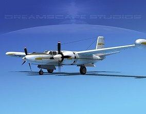 Douglas B-26 Marketeer V09 3D