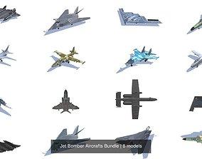 Jet Bomber Aircrafts Bundle 3D model