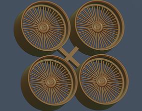 Forgiato wire wheels scale 1-24 1-25 3D printable model 4