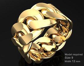 Chain ring - Miami 3D printable model 8