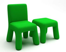 Furniture Children s Chair Table 3D model