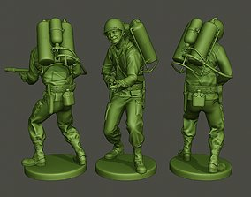 American soldier ww2 fire A6 3D print model