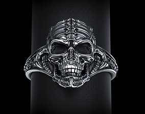 Biomechanical Skull Ring Silencer 3D print model