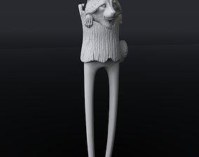 Hairpin Raccoone 3D print model simplicity